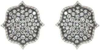 Bayco diamond Lotus earrings