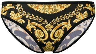 Versace Baroque-Print Bikini Bottoms