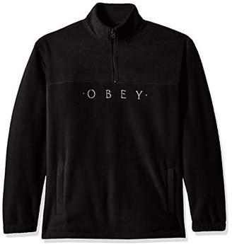 Obey Men's Mountain Mock Neck Zip Fleece