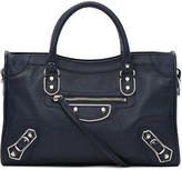 Balenciaga Blue Metallic Edge City S Bag