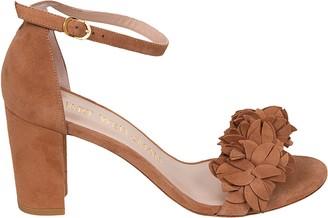 Stuart Weitzman Nearly Nude Flower Sandals