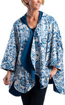RainCaper Outerwear Capes Navy/Garfield - Navy & White Floral Reversible Hooded Rain Cape