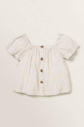 Seed Heritage Stripe Button Top