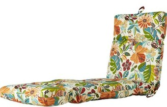 Bay Isle Home Indoor/Outdoor Floral And Bird Chaise Lounge Cushion Fabric: Lensing Jungle