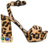 Casadei leopard print platform sandals