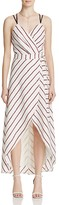 Adelyn Rae Striped Wrap Maxi Dress