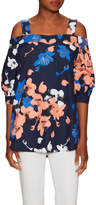 Timo Weiland Women's Cotton Print Cut Out Shoulder Tunic
