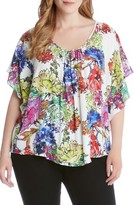Karen Kane Plus Size Women's Print Angel Top