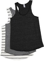 Alternative Meeg's Racerback Tank Bundle (Eco Black/Eco Grey/Eco Ivory Ink Stripe) Women's Sleeveless