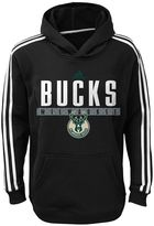 adidas Boys 8-20 Milwaukee Bucks Playbook Hoodie