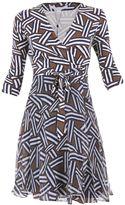 Diane von Furstenberg Irina Silk Jersey And Chiffon Wrap Dress