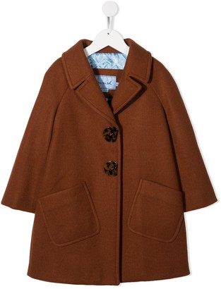 Mi Mi Sol Notched-Lapel Single-Breasted Coat
