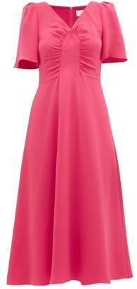 Goat Rosemary Gathered Silk Dress - Pink