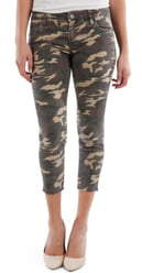 KUT from the Kloth Connie Camo Raw Hem Crop Skinny Jeans