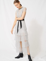 Maje Long dress in dotted Swiss tulle
