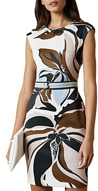 Ted Baker Liziiey Masquerade Print Bodycon Dress