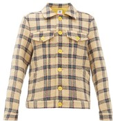 M Missoni Boxy Upcycled Checked Chenille Jacket - Womens - Beige Multi
