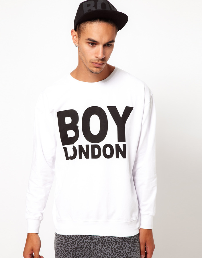 Boy London Sweat with Logo - White