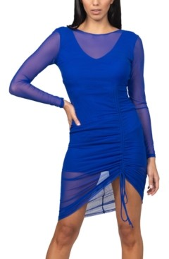 Bebe Juniors' Side-Ruched Bodycon Dress