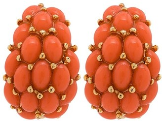 Kenneth Jay Lane Beaded Clip Earrings