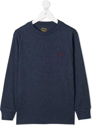 Polo Ralph Lauren Embroidered Logo Cotton Sweatshirt