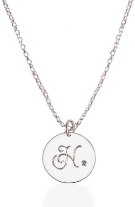 Harry Rocks Sterling Silver Initial Necklace with Diamond