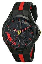 Ferrari Men's 0830160 Lap-Time Black and Red Watch