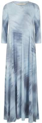 Raquel Allegra Blue Tie-dye Jersey Maxi Dress
