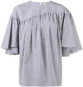 Awake stripe gathered blouse - women - Cotton - 36