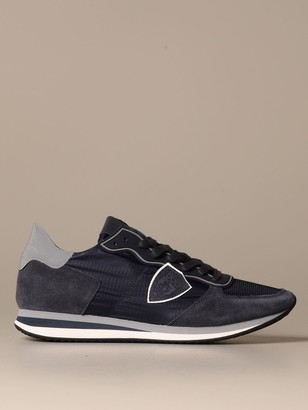 Philippe Model Trpx Mondial Sneakers In Nylon And Suede