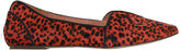 Gee WaWa Red & Black Animal Print Lydia Flat