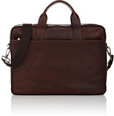 Barneys New York MEN'S LEATHER BRIEFCASE-BROWN