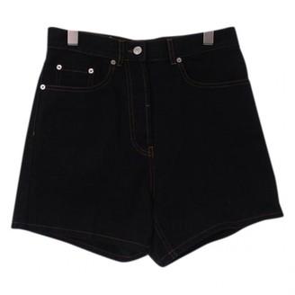 Dries Van Noten Black Cotton Shorts