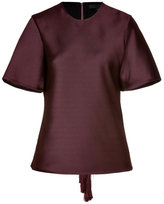 Alexander Wang Oxblood Bias Cut Top with Back Fringe