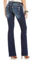 Miss Me Thick-Stitch Stretch Denim Bootcut Jeans