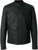 Belstaff zipped bomber jacket - men - Cotton/Polyester/Spandex/Elastane/Cupro - 44