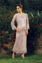 Soulmates C80952 Embroidered Floral Lace Three Piece Evening Gown