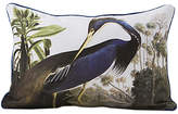 Magpie Heron Cushion, Blue/White