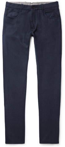 Canali Virgin Wool-Flannel Trousers