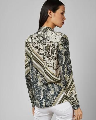 Ted Baker MAI Snake print blouse