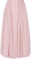 Emilia Wickstead Poppy Cloqué Midi Skirt - Pastel pink