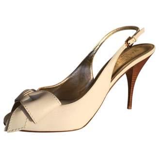 Valentino White Leather Heels