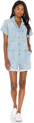 Pistola Denim Parker Short Jumpsuit. - size L (also