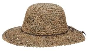 Scala Hand-Crocheted Seagrass Floppy Hat