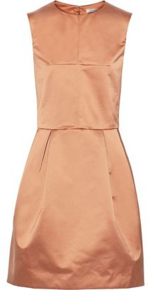 Nina Ricci Pleated Satin Mini Dress