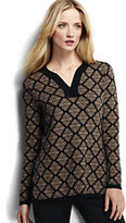 Classic Women's Cotton Jacquard Tunic Sweater-Soft Coral Rose