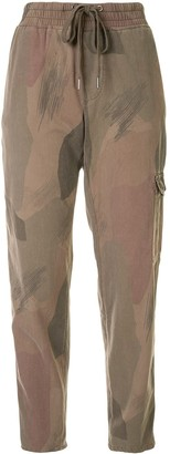 James Perse Camouflage Print Cargo Trousers