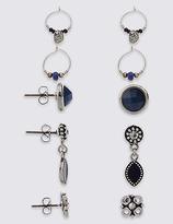 M&S Collection Craftwork Hoop Pack Earrings Set