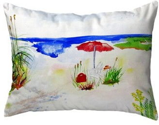 Highland Dunes Sartor Beach Umbrella Indoor/Outdoor Lumbar Pillow