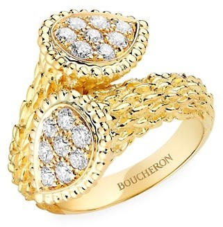 Boucheron Serpent Boheme 18K Yellow Gold & Diamond Toi Et Moi Ring